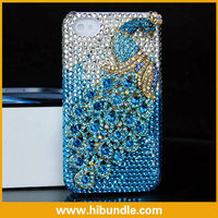 For iphone4 4g 4s Peacock Bling Rhinestone Crystal Case\ hard case for iphone
