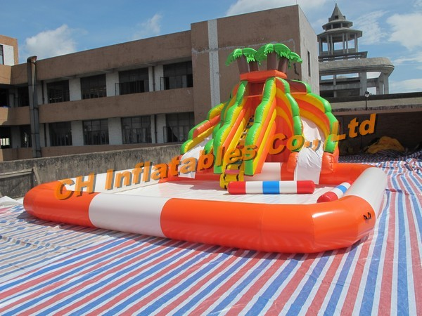 product detail top selling inflatable water slide with swimming pool giant for adult games sale