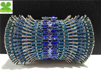 Hot women fashion clutch colorful crystal stone evening bag FH20-1