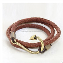Alibaba website unique leather fish hook jewelry