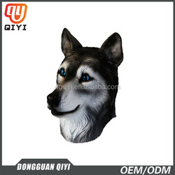 Dog Mask With Beautiful Blue Eyes Animal Face Mask Latex Party Face Masks