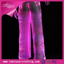 Alibaba hot sale special material fabric optic fiber harem pants men