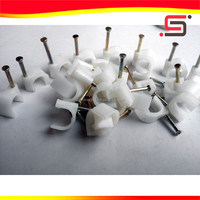holding and locking metal screw plastic concrete electric wire cable clips