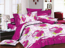high quality twill reactive print china products bedsheet 3d duvet cover set bed sheet