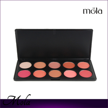 2015 new product 10 Color Makeup Cosmetic Blush blusher palette China factory