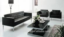 2014 vendita calda base in acciaio inox divano in pelle per ufficio 3033#