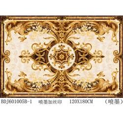 China Luxury Art Golden Flower Attative Patterns Cheap Tiles Manuactuers