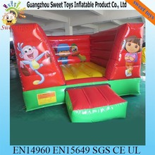 Commercial Dora Bouncers Inflatable ,mini indoor bouncy castle for kids toy