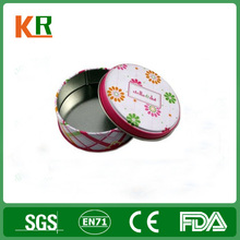 customed and printed cute small metal tin boxes
