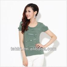 Fashion 100 cotton tshirt for women