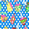 Cotton Double Brushed Hot Cocoa and Heart Printing Flannel Fabric For Children/Baby Use