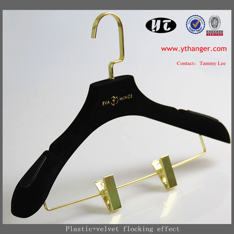 Wholesale Cheap Plastic Hanger Rose Gold Pant Hanger Used ...