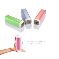 2015 corporate gifts lipstick power bank slim 2000 mah power bank packing box