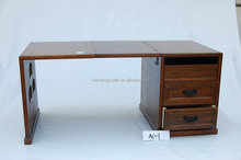 Custom solid wood desk, lacquered wood office products