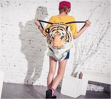 2015 New Cool Huge Knapsack Backpack White Tiger Head Backpack