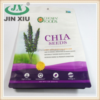 Ziplock stand up agriculture chia seed packaging bag