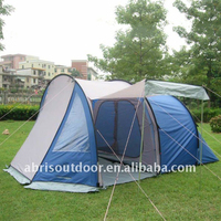 LARGE 4 PERSON FAMILY TUNNEL TENT WITH BIG LIVING ROOM-BLUE