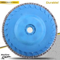 7'' 180X22mm abrasive radial flap disc with plastic backing for inox and stainless steel polishing