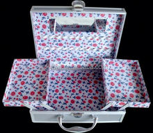 High Quality Fashion train case makeup bag