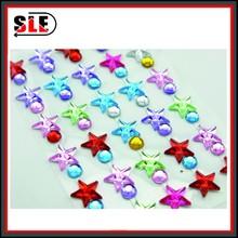valentines heart shape sticker glass gems acrylic gems fashion jewelry sticker