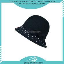 Comfortable soft latest design wool child felt hat
