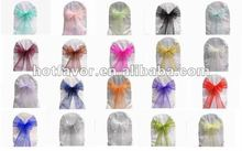 crystal organza chair sashes, organza bows, lace chair sashes, cheap chair wraps in various color