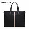 Mens nylon handbag with leater trims