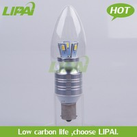 LED dimmable candle light B15 2700K 5W high bright with factory direct sale