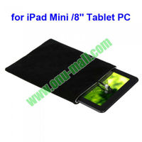 "Protective Double Polyester Cloth Sleeve Bag/Pouch Case for iPad Mini / 8"" Tablet PC"