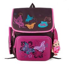 Cartoon butterfly pink children schoolbag pupil backpack super light burden
