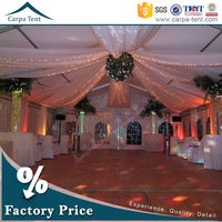 Clear span aluminum frame fabric for tent decoration