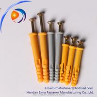 Concrete nylon plastic nail anchor wall plug