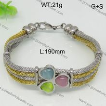 Brilliant cut bracelet rubber stainless gay