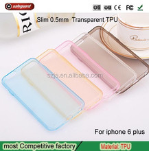 soft tpu slim mobile phone case for iphone 6 6S 6plus Translucent case for iphone6s 6s plus