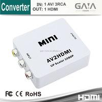 Mini RCA/AV to HDMI converter cable support 720P/1080P hdmi converter