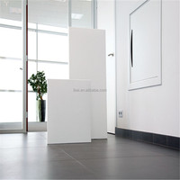 Plain White Infra Red Carbon Crystal Panel Heaters 500W 600W