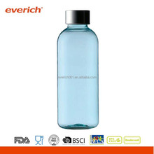 Private Label Plastic Sports Drink Bottle With Metal Lid