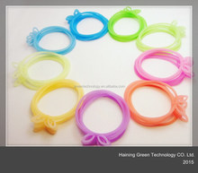 new/simple design rubber flower hair band and bracelet