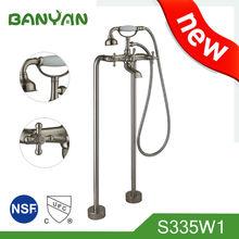 MOQ100PCS Free Standing Double Handle Telephone UPC Bathtub Faucet