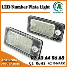 No error code LED license plate light for AUDI Q7 TD1 2010 onwards