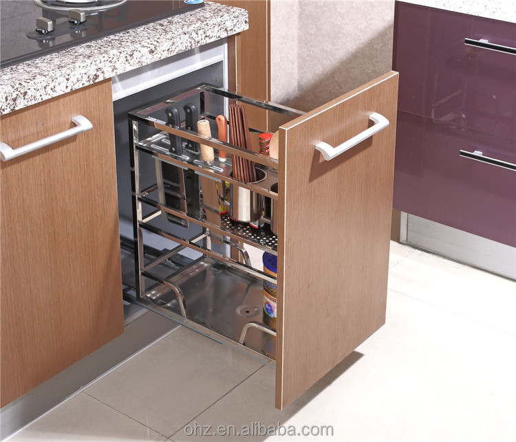 Home Choice Stainless Steel Kitchen Cabinet Pull Out Storage Basket ...