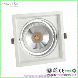 AR111 High Lumen 15W high brightness good quality square cob led grille light with 3 years warranty