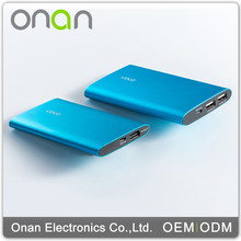 Onan Alloy Cheap 5000MaH Gift Mini power bank for Samsung ipad,ipod,nokia, iPhone 5s/5c/5/4s/4,Mp3,Mp4 smartphone mobile Power B