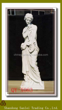 marble lady Carving, white Stone Garden Home Decoration Sculpture