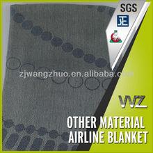 Jacquard logo 100% polyester tissé l'air couvertures pour la vente chine usine couverture grise