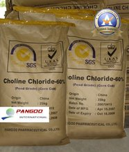 Feed grade vitamins type and promote nutrition efficiency corn cob 60% powder Choline chloride