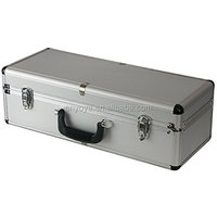 Aluminium Flight Case Silver 550x220x175mm Internal Foam for DJ and RC helicopters