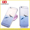 BUStyle dolphin case for iPhone 6 plus,creative design 2D Hollow half transparent mobilephone cellphone case UVprinting