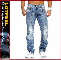 fashion wholesale High quality ripped slim fit man denim jeans pents drop shipping (LOTY041)