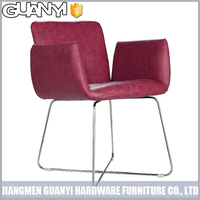 metal indoor furniture with leather cover